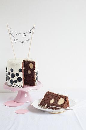 Layer cake à pois
